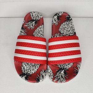 Adidas Adilette Slides Pineapple Print